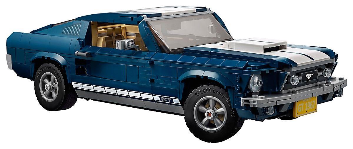 LEGO's 1967 Ford Mustang passenger side