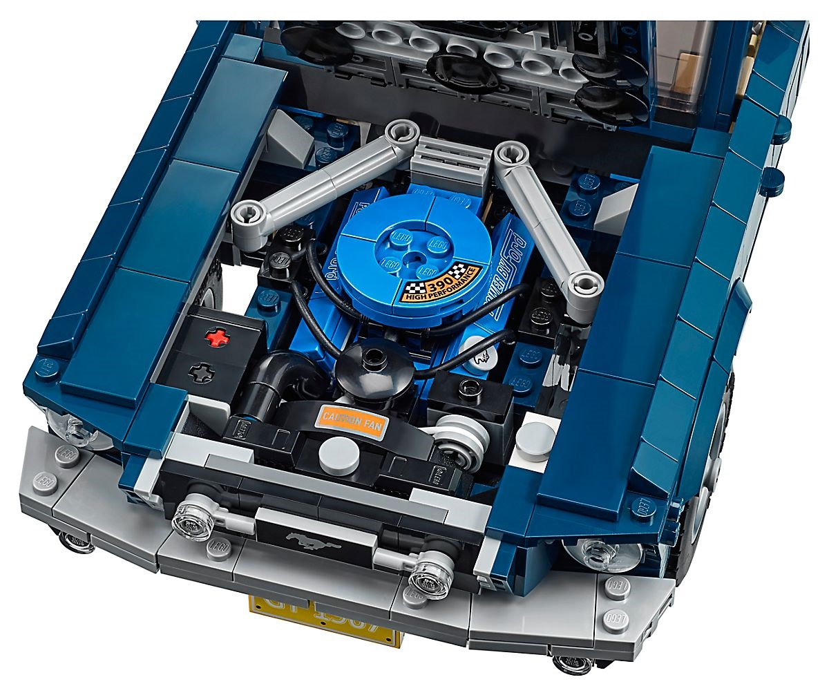 LEGO's 1967 Ford Mustang engine