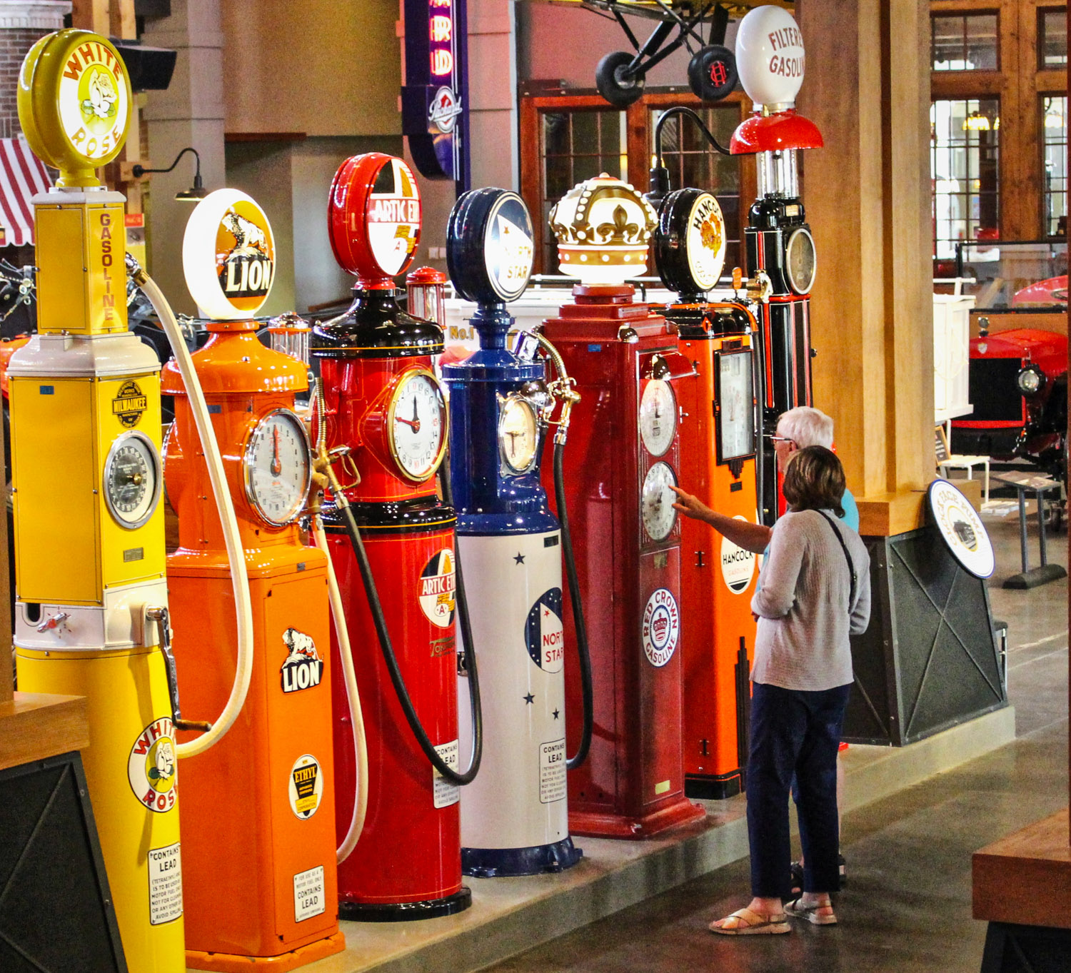 Gasoline Alley gas pumps vintage