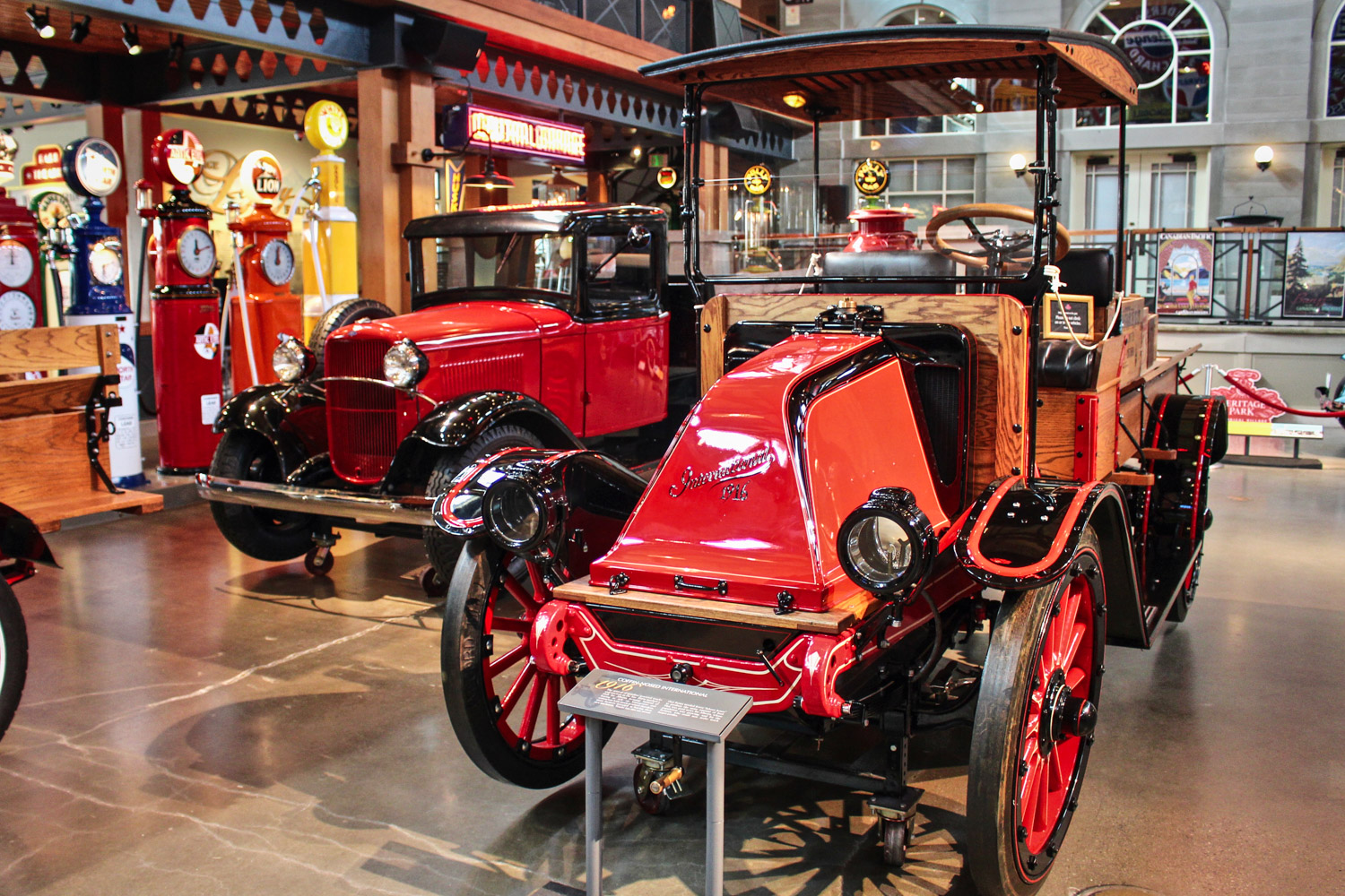 Gasoline Alley 16 - Left to right 1932 Ford Dump Truck and 1916 Coffin-Nosed International