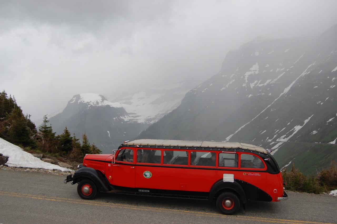 Glacier National Park side bus