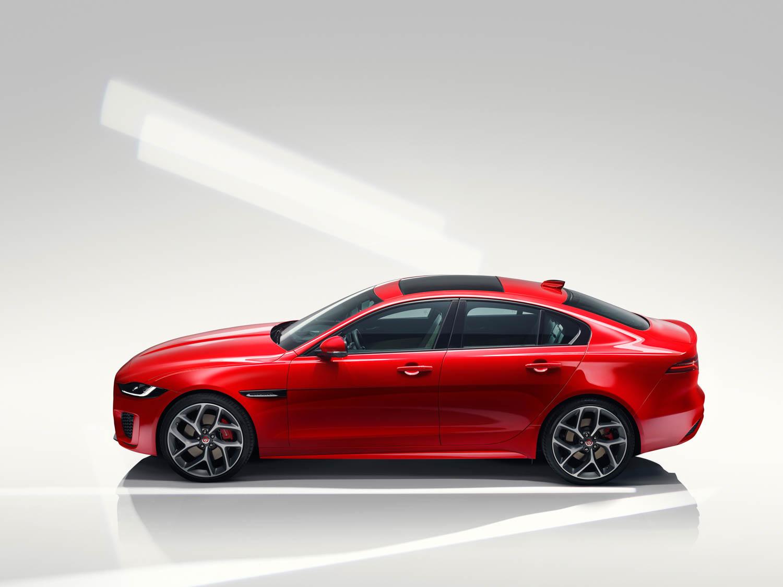 2020 Jaguar XE side profile