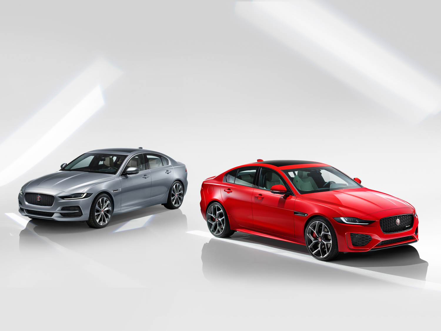 2020 Jaguar XE silver and red