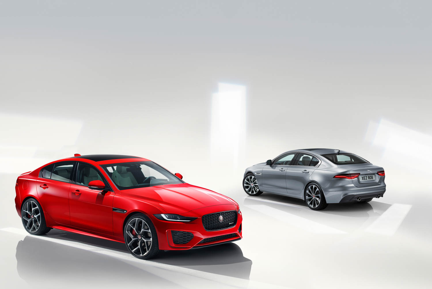 2020 Jaguar XE front and rear 3/4