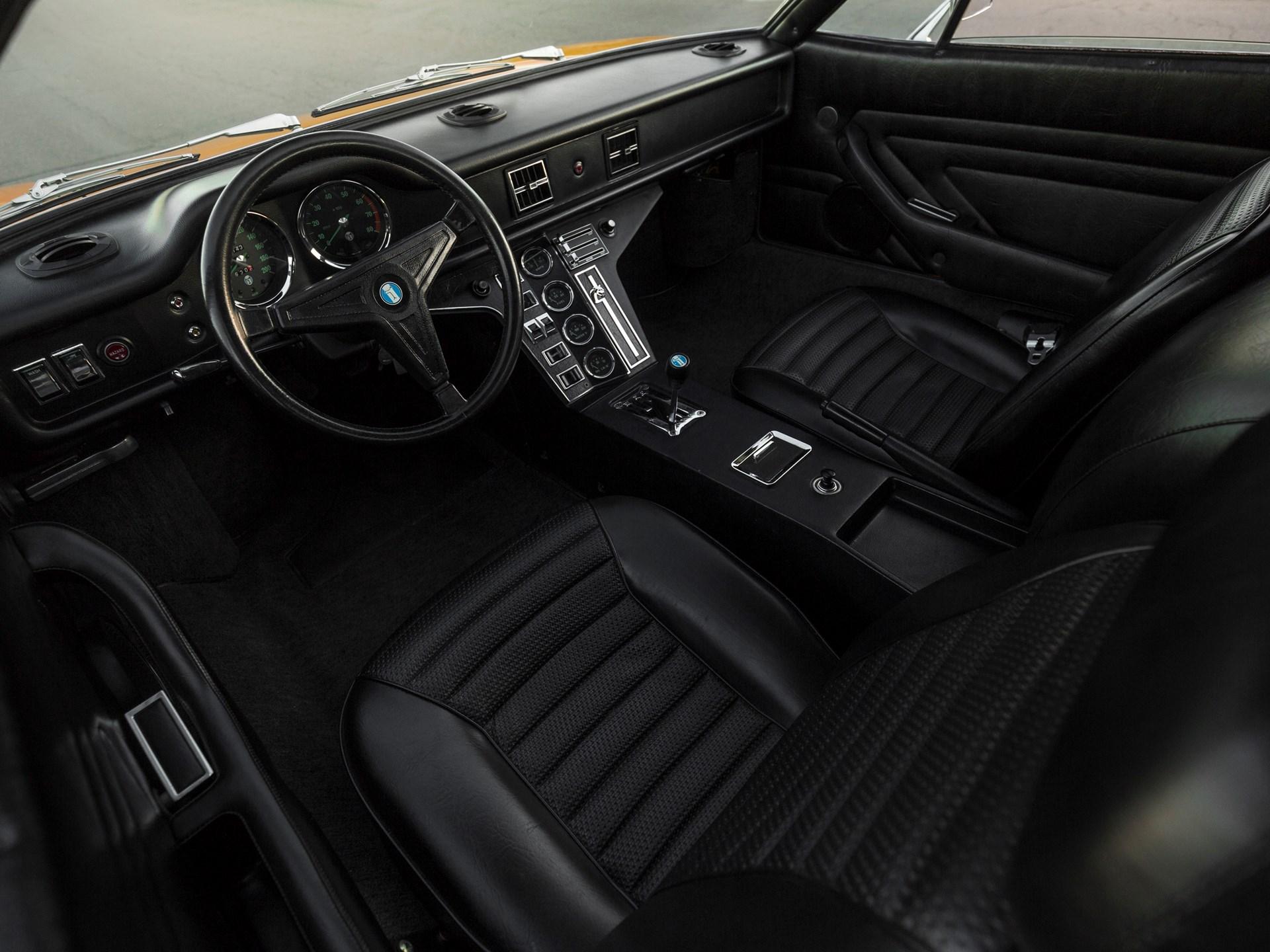 1973 De Tomaso Pantera interior driver