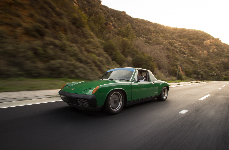 1974 Porsche 914 3/4 front driving