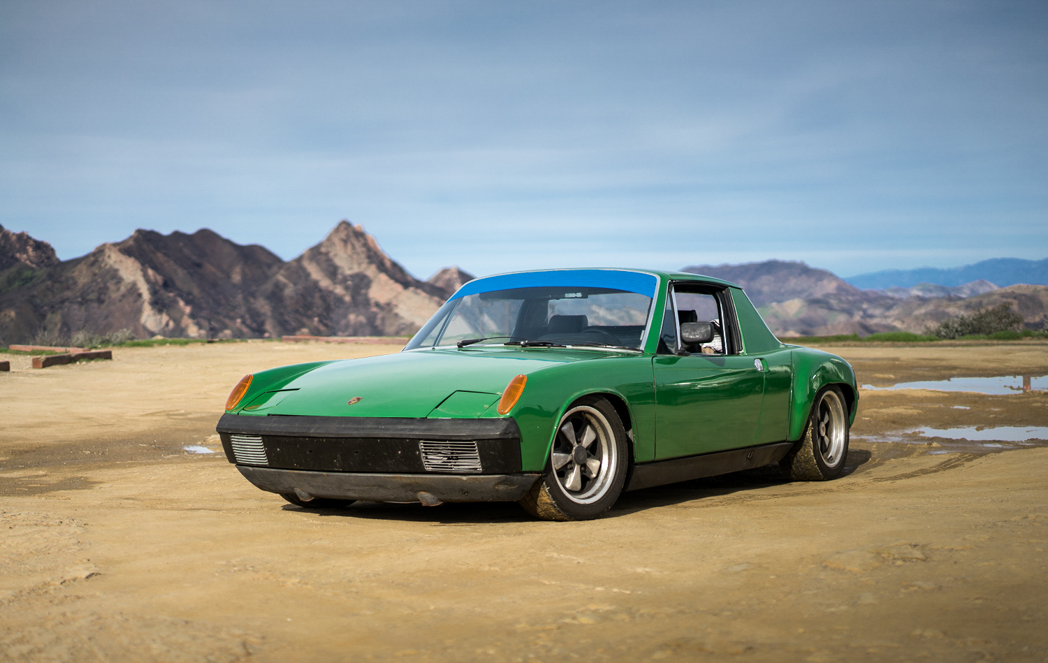 1974 Porsche 914 3/4 front mountain background