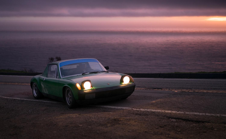 1974 Porsche 914 sunset