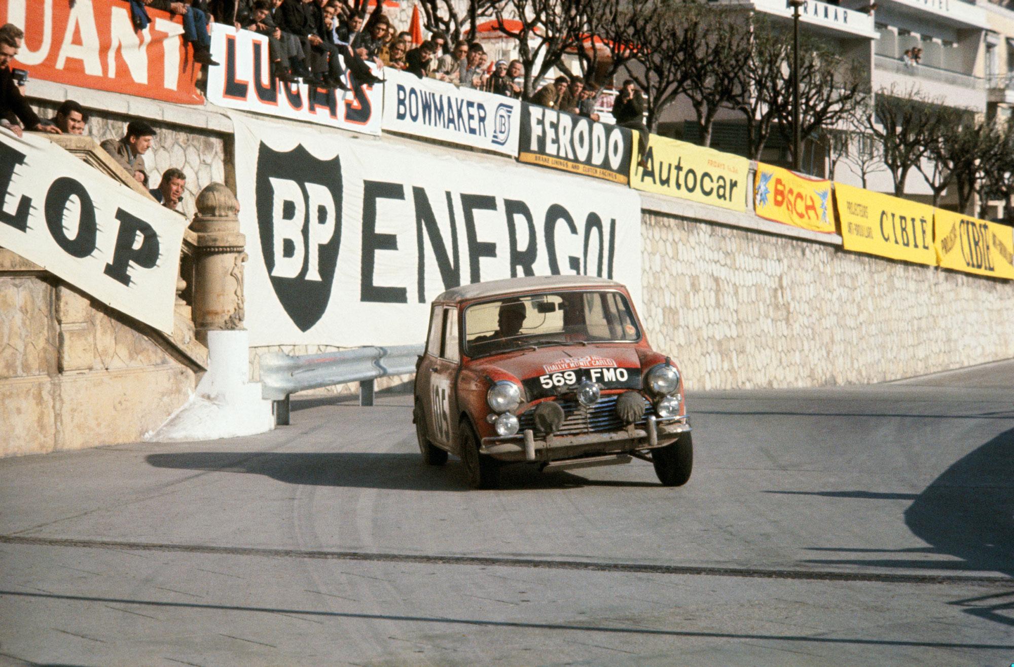 Rauno Aaltonen competing in the 1964 Rallye Monte Carlo
