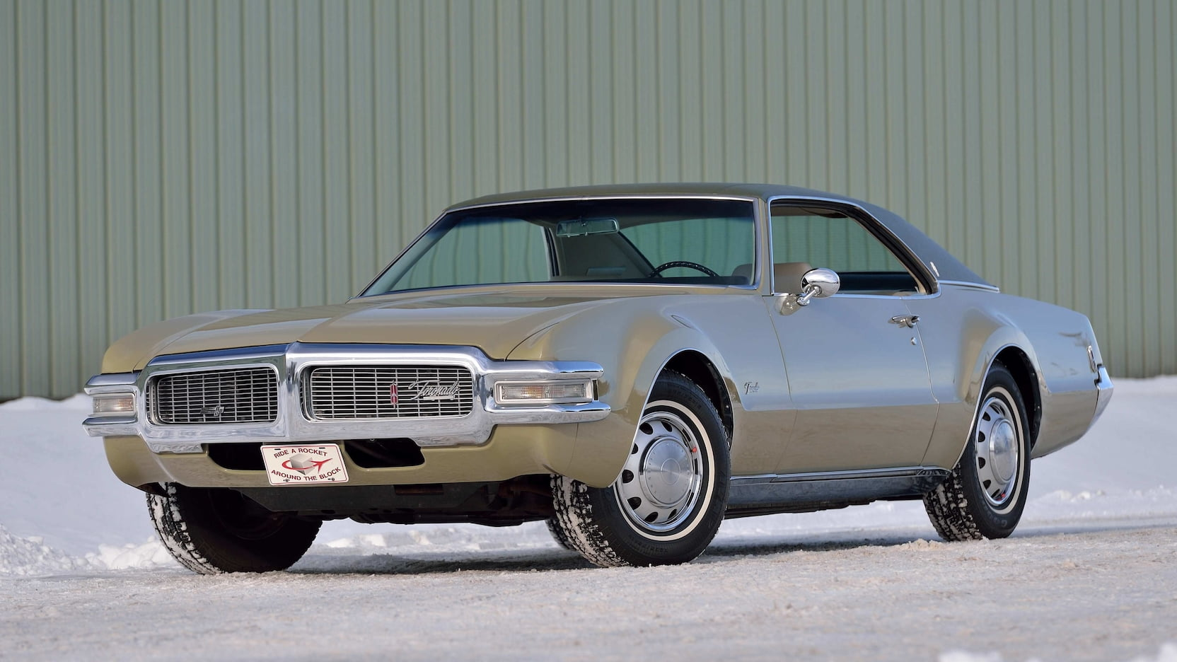The Oldsmobile Toronado boasts jet-age style and affordable prices thumbnail