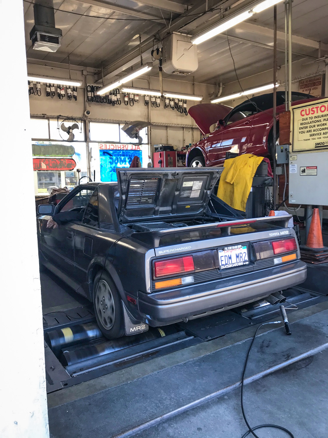 1988 Toyota MR2 chassis dyno rear