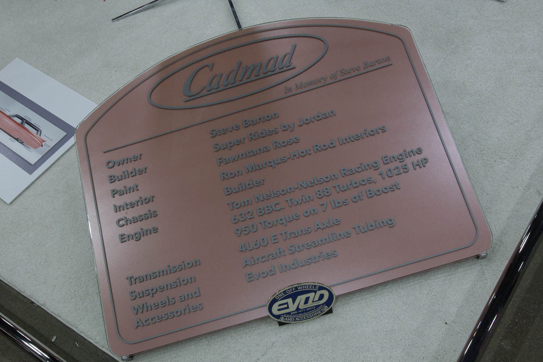1959 Cadillac Eldorado Brougham plaque