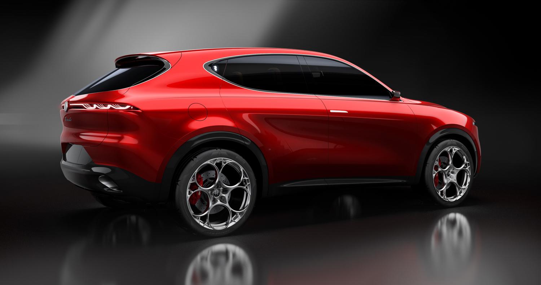 Alfa Romeo Tonale concept 3/4 rear