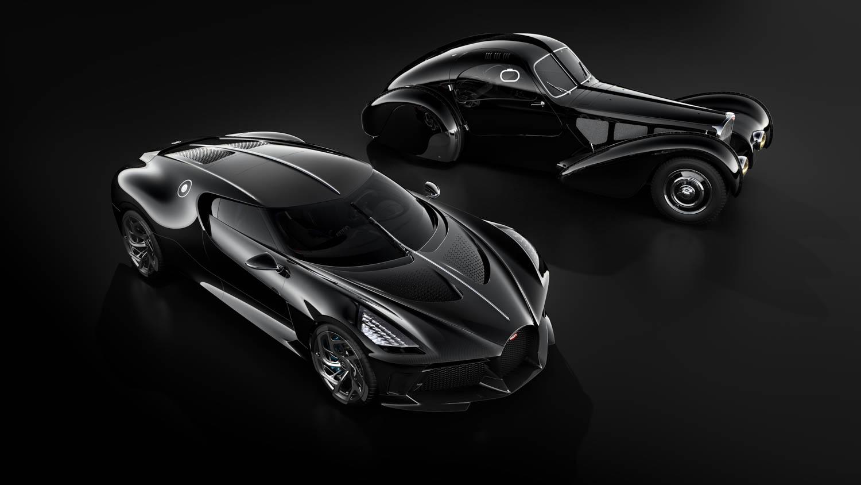 """Bugatti """"La Voiture Noire"""" with Atlantic 57sc front"""