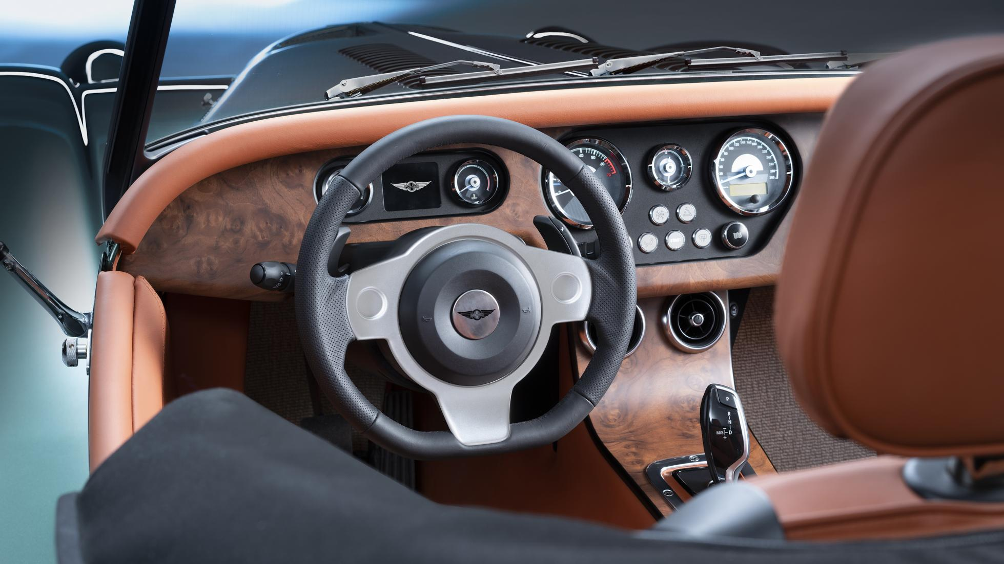 Morgan Plus Six steering wheel