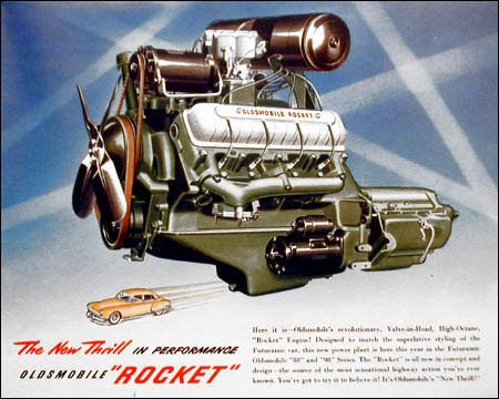 Olds OHV Rocket engine