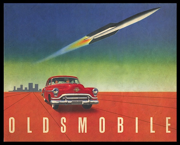 classic Oldsmobile rocket advertisement