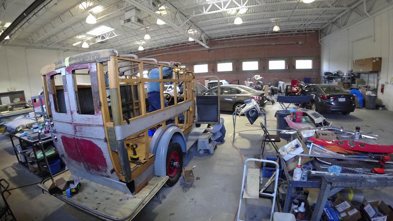 1927 Packard ambulance under restoration