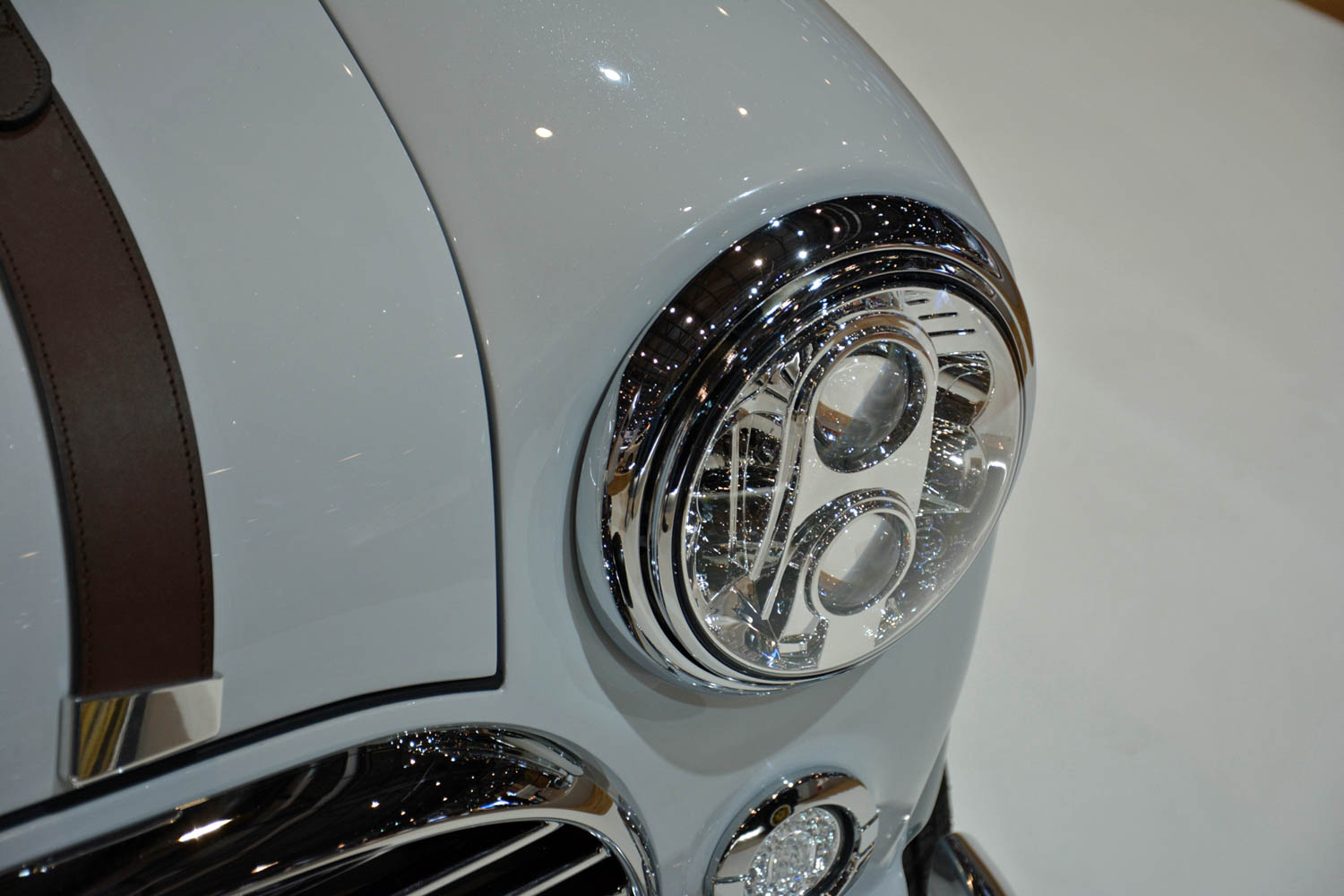 David Brown Automotive Mini Remastered headlight detail
