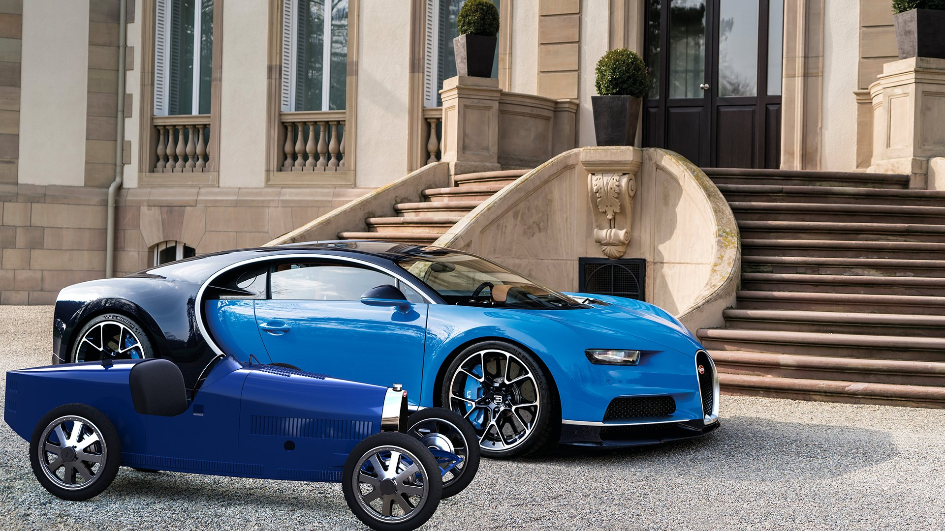 Bugatti Baby II and chiron