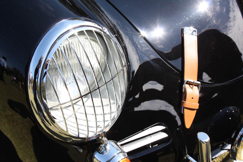 1963 Porsche 356 headlight and hood strap