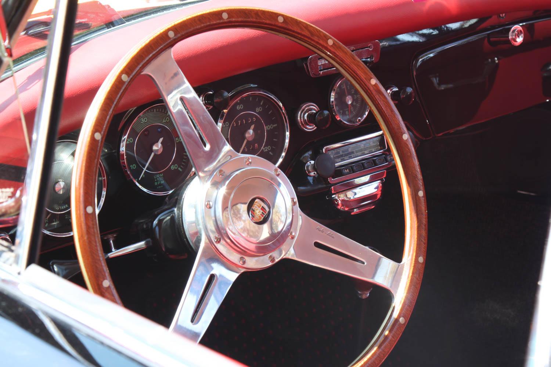 1963 Porsche 356 steering wheel