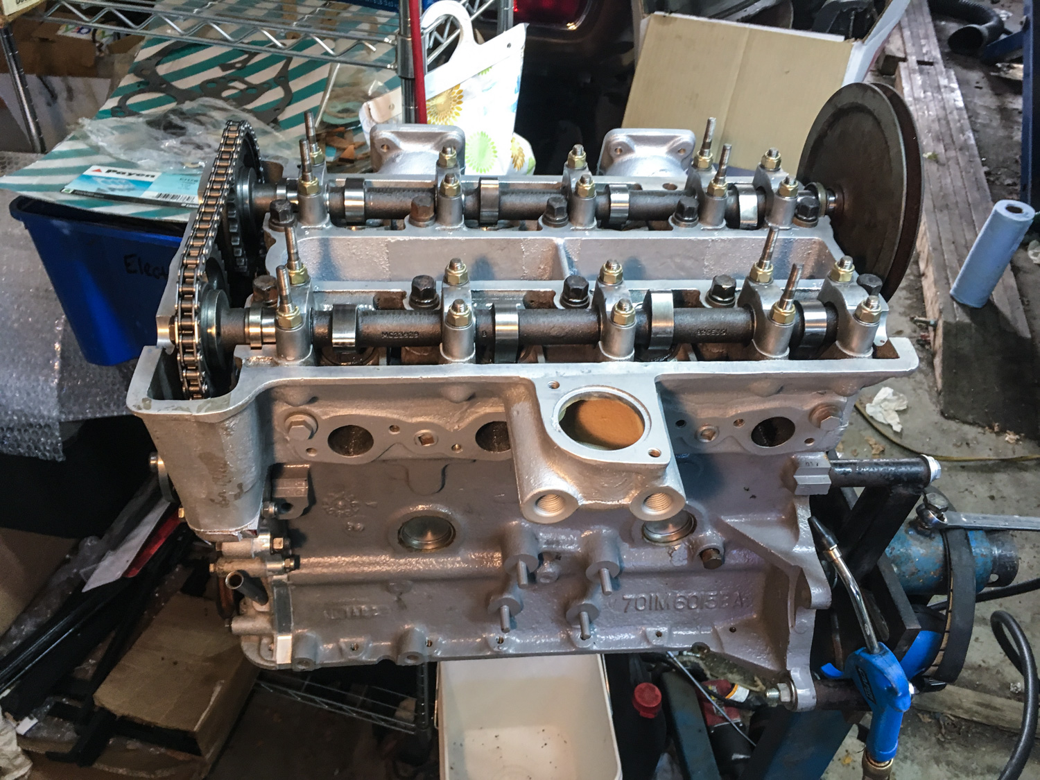 assembled lotus engine