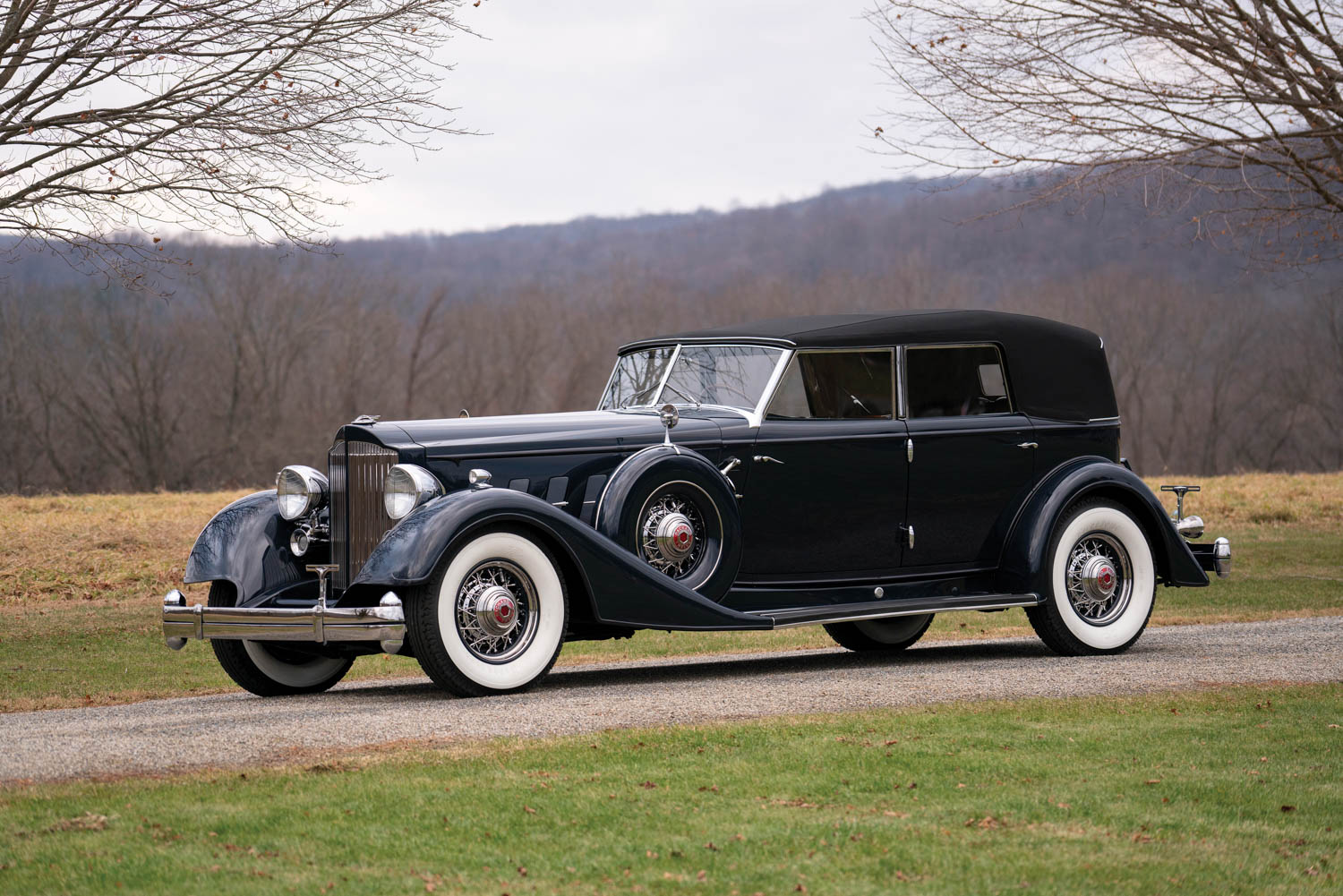 1934 Packard Twelve Individual Custom Convertible Sedan