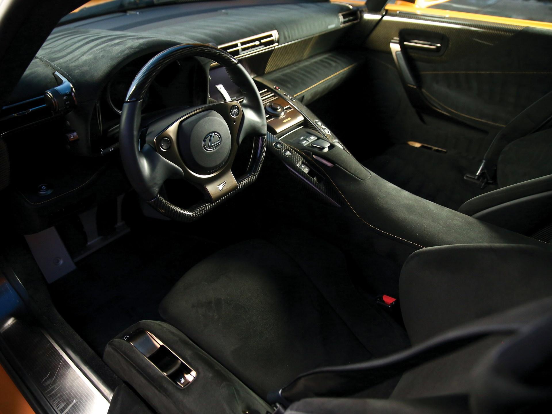 2012 Lexus LFA Nürburgring Package interior driver