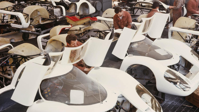 Porsche 917 bodies under construction