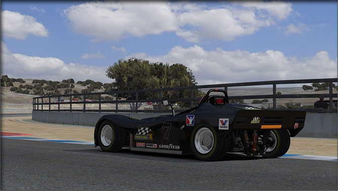 iRacing 3/4 rear black car
