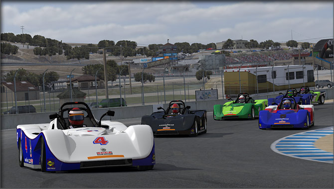 iRacing turn white and blue