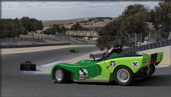 iRacing green rear 3/4 car