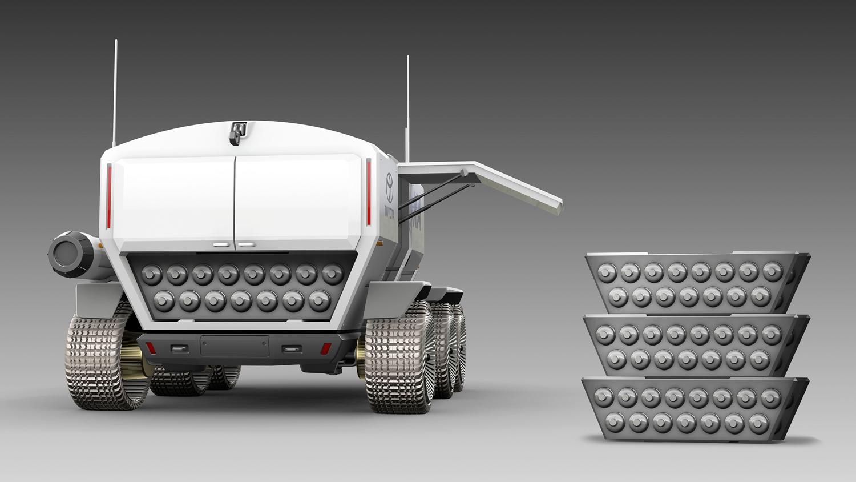 Toyota Pressurized Moon Rover concept cargo