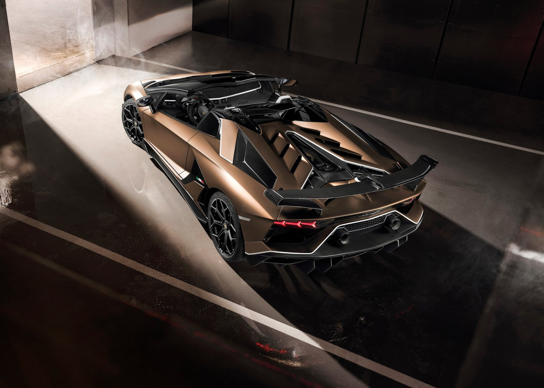 2020 Lamborghini Aventador SVJ Roadster 3/4 rear high