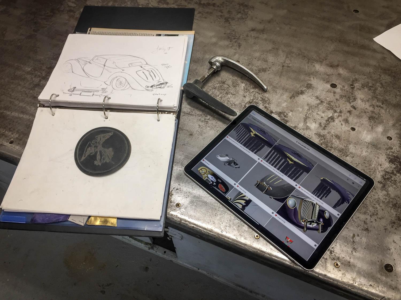 Fluevog Jaguar concept drawings