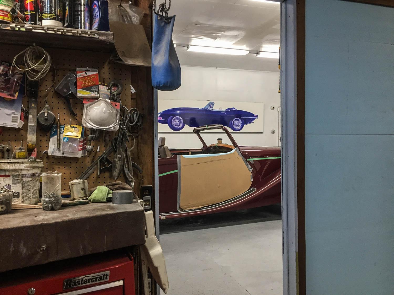 Fluevog's work space and garage