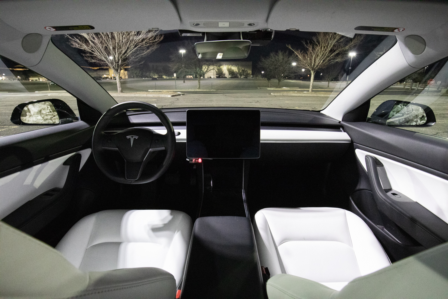 Tesla Model 3 AWD interior