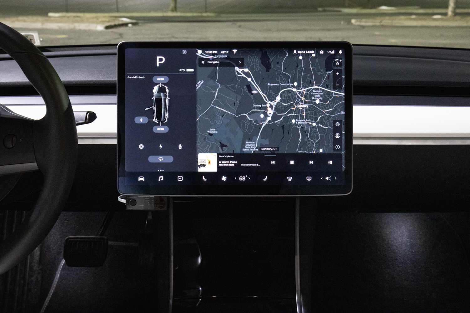Tesla Model 3 AWD infotainment screen