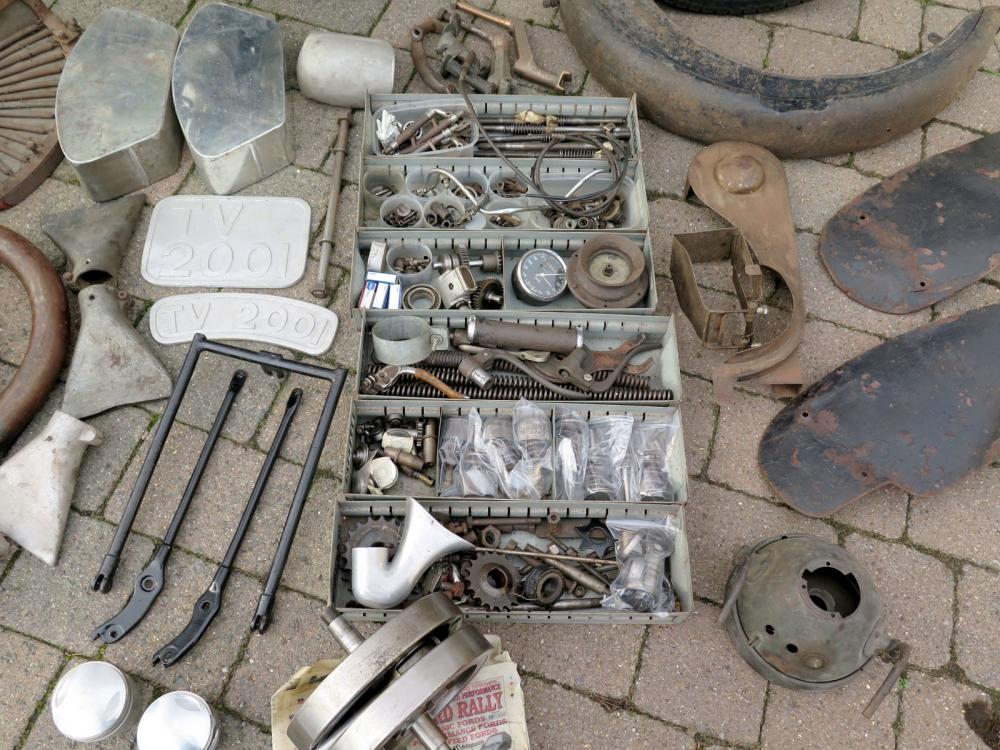 1930 Brough Superior SS100 parts bins
