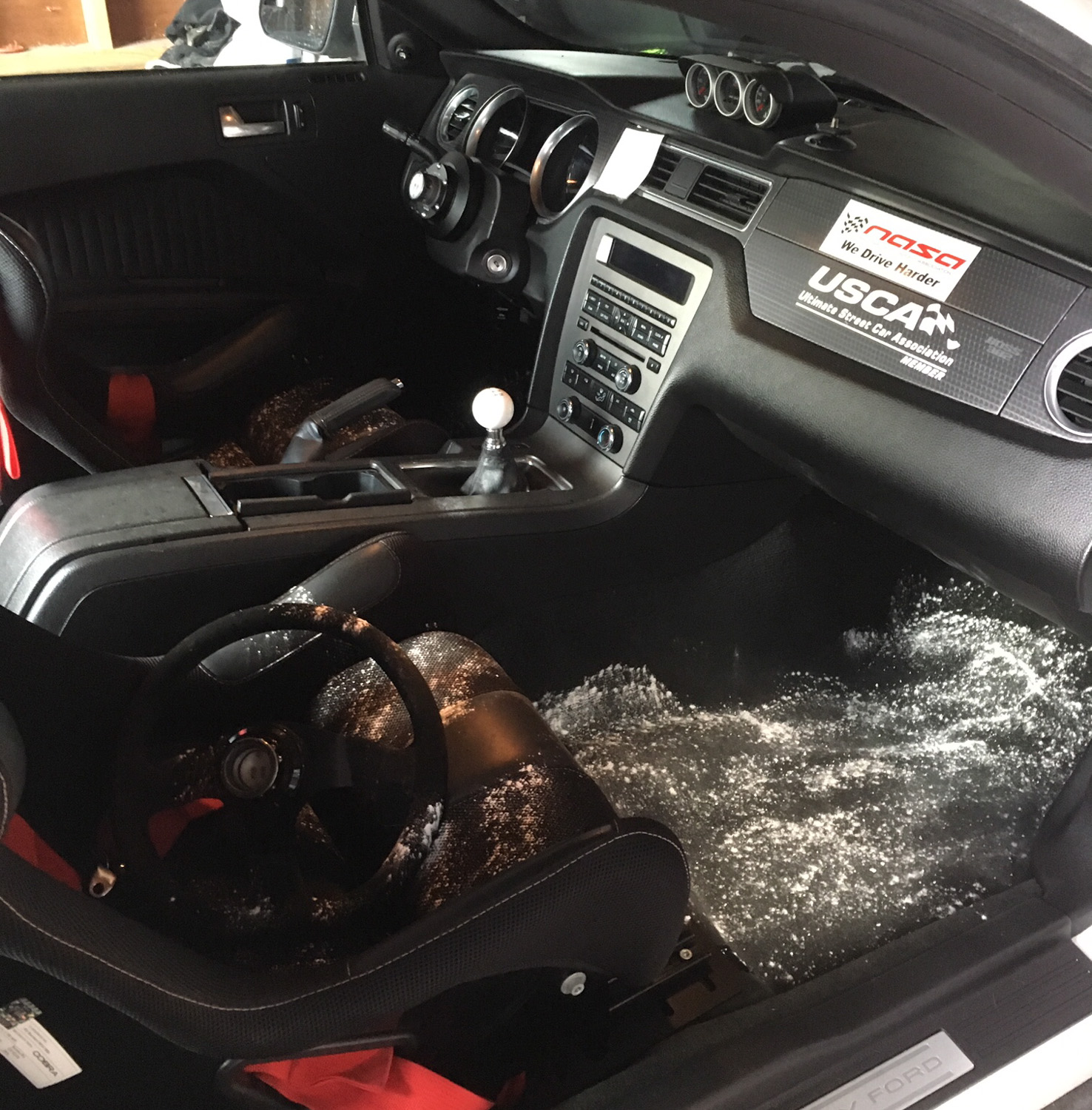 mouse destroys mustang boss 302 interior
