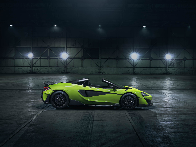 McLaren 600LT Spider side profile