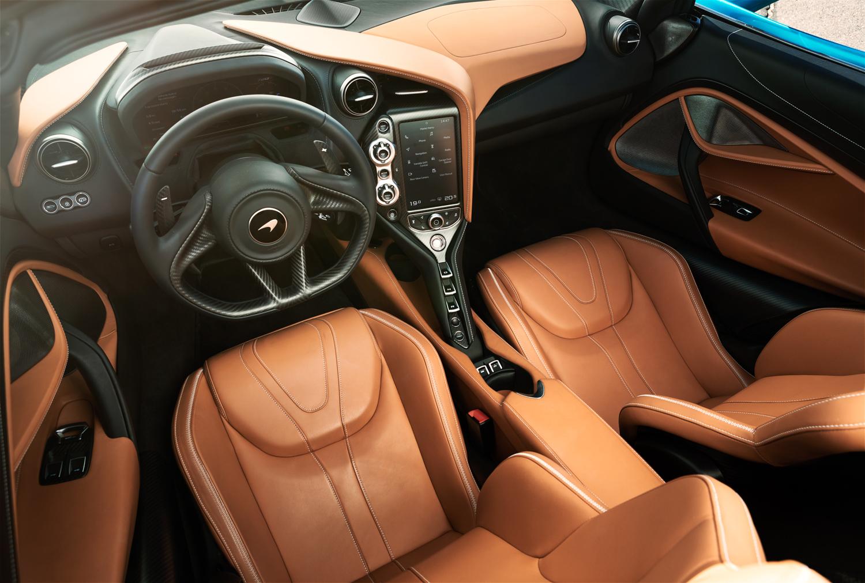 McLaren 720S Spider interior driver seat