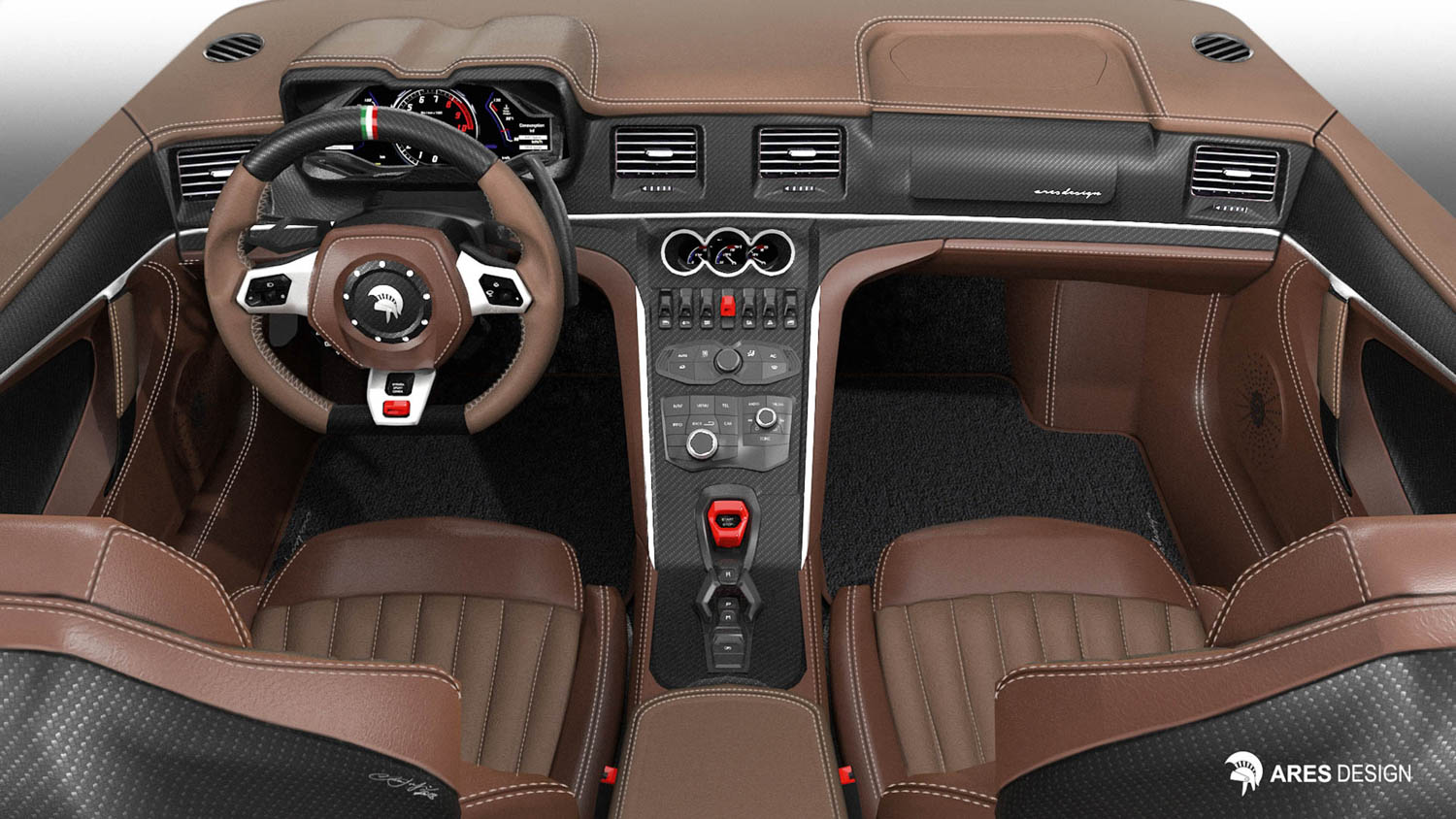 Ares Design Panther ProgettoUno interior render