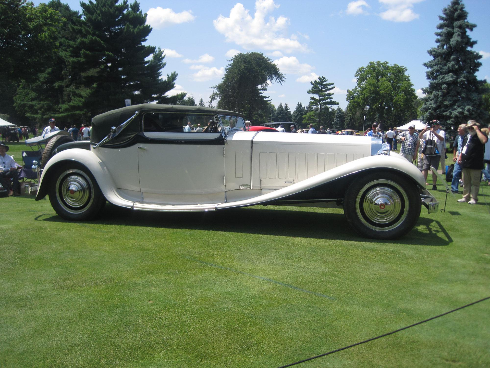 Bugatti Royale side profile
