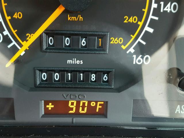 1992 Mercedes-Benz 500SL miles