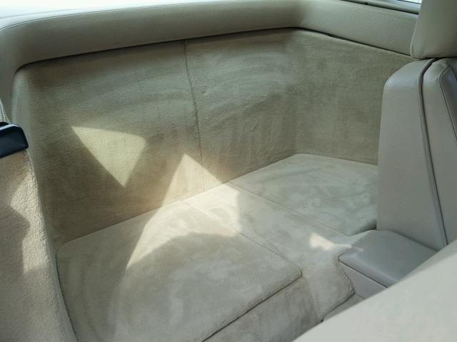1992 Mercedes-Benz 500SL rear interior