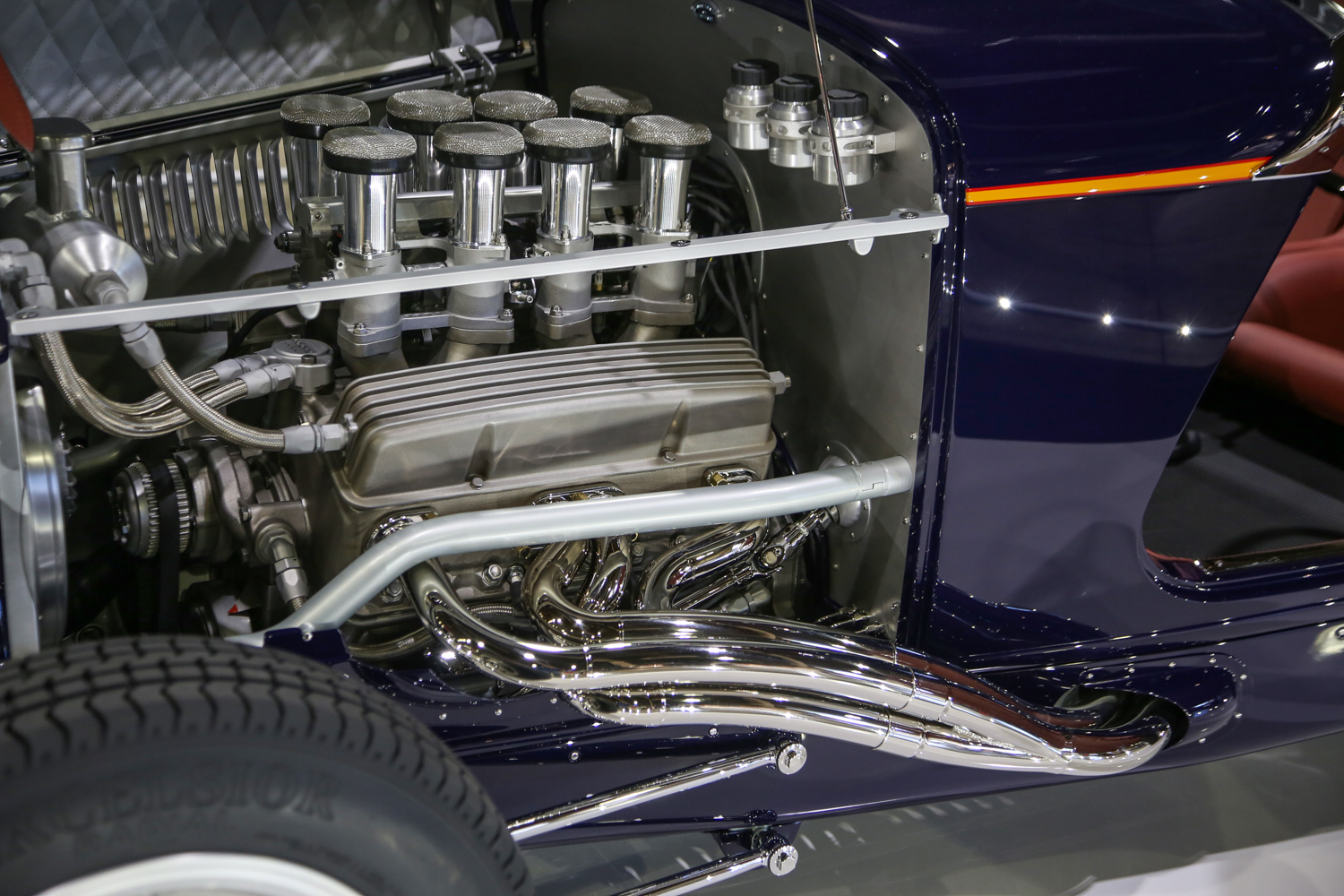 project car chevy small block headers ITB