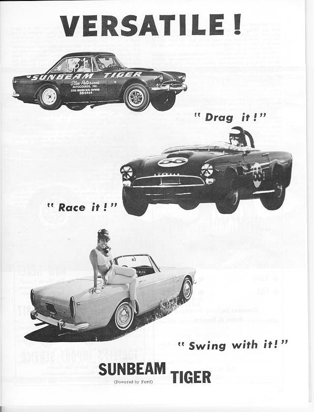 Sunbeam Tiger Advertisement