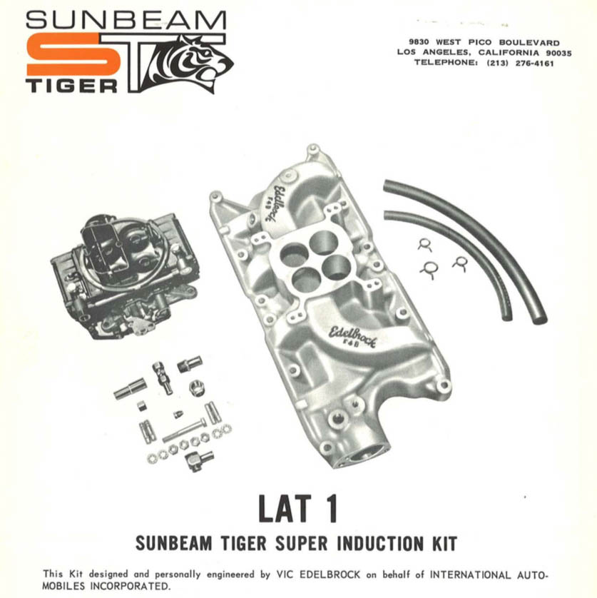 hot rod parts sunbeam tiger ad